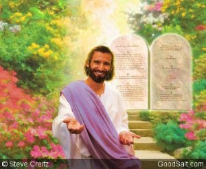Jesus With Ten Commandments