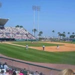 Al Lang Field is one of the old spring training fields in St. Petersburg Florida. It is one of the places where Babe Dahlgren probably played.