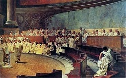 Roman Senate in session picture from Wikimedia commons