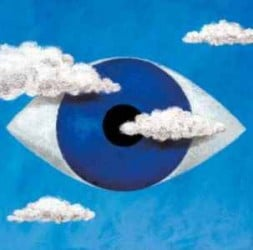 eye in the sky with clouds
