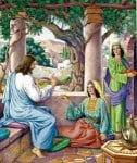 Description: Jesus in Home of Mary and Martha