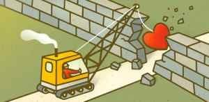 Crane With Heart Wrecking Ball