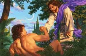 Image result for photo Adam and Jesus