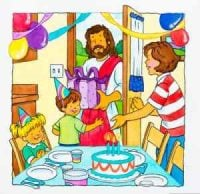 Jesus Comes to Birthday Party