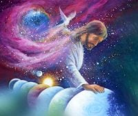 Creator: Jesus creating the world in seven days