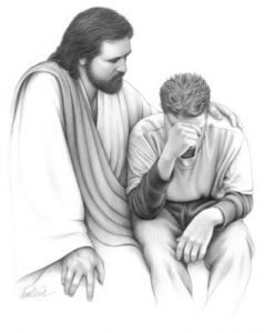 Jesus consoles young man