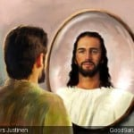 Man Sees Jesus in the Mirror