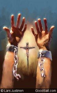 Uncuffed hands