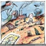 Child Views Pollution and Violence