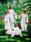 Jesus with family in heaven