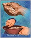 Religious Stock Image hungry grain person