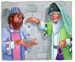 Judas Takes Thirty Pieces of Silver