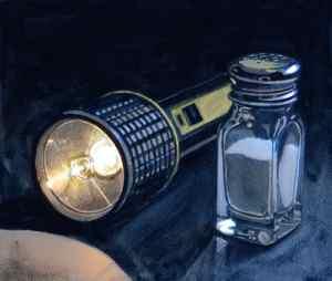 Flashlight and Salt Shaker