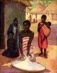 African Women Grinding Corn