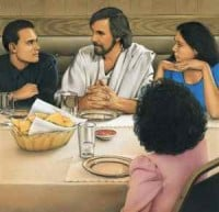 Jesus Dines With Friends