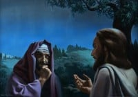Nicodemus the Pharisee comes to a night time private meeting with Jesus.
