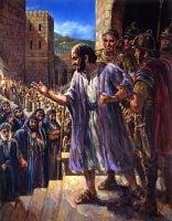 Paul preaching the Gospel