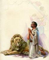 Daniel Praying in Lion's Den