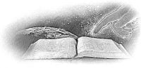 God's Finger Pointing to Open Bible