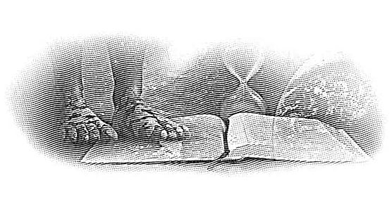 Bible, Hour Glass and Prophetic Feet