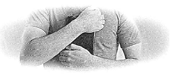Man Holding Bibile to His Chest