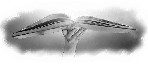 Hand Holding an Open Bible