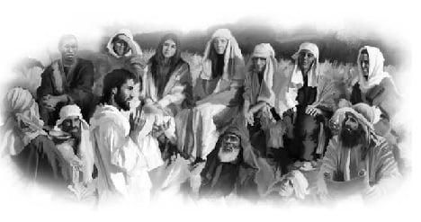 Jesus Teaching a Group of People