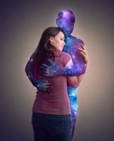 Woman Hugging the Universe